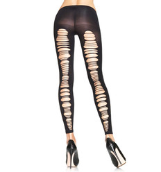 OPAQUE FOOLTESS TIGHTS SHREDDED BLACK