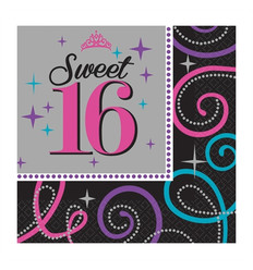 Servetten Sweet Sixteen (16 st.)