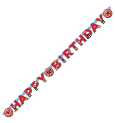Letterslinger Brandweerman Sam Happy Birthday