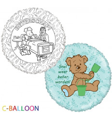 "C-Balloon kit ""beterschap jongen"""