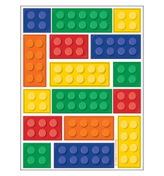 "Stickers Lego ""Block Party"" 4 vel"