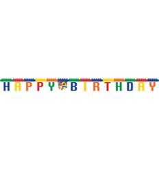 "Letterslinger Happy Birthday Lego ""Block Party"""