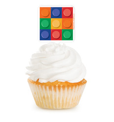 "Cup Cake Toppers Lego ""Block Party"""