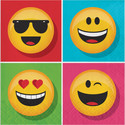 Emoticons Servetten 16st