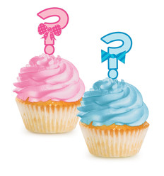"Cupcake Toppers ""Bow or Bowtie?"""